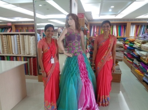 Fabric shopping.