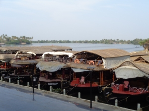Houseboats at Alleppey s famous backwaters