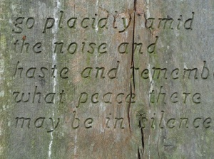 Bench Inscription.