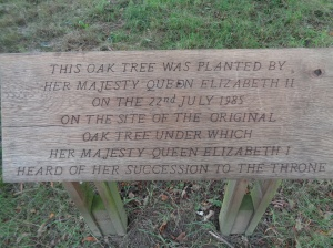 Oak Tree Inscription
