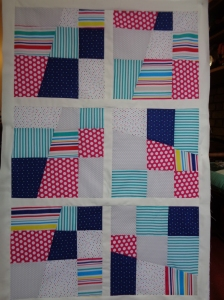 Stack and Whack lap quilt top