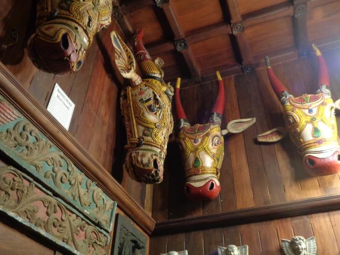 Wooden Bull heads