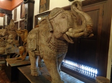 phant carved from wood